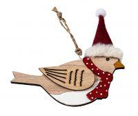 Holz-Wintervogel Anhänger