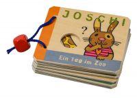 Holz-Buch 'Joschi: Ein Tag im Zoo'