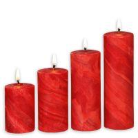 Geschenk-Set rote Adventskerzen