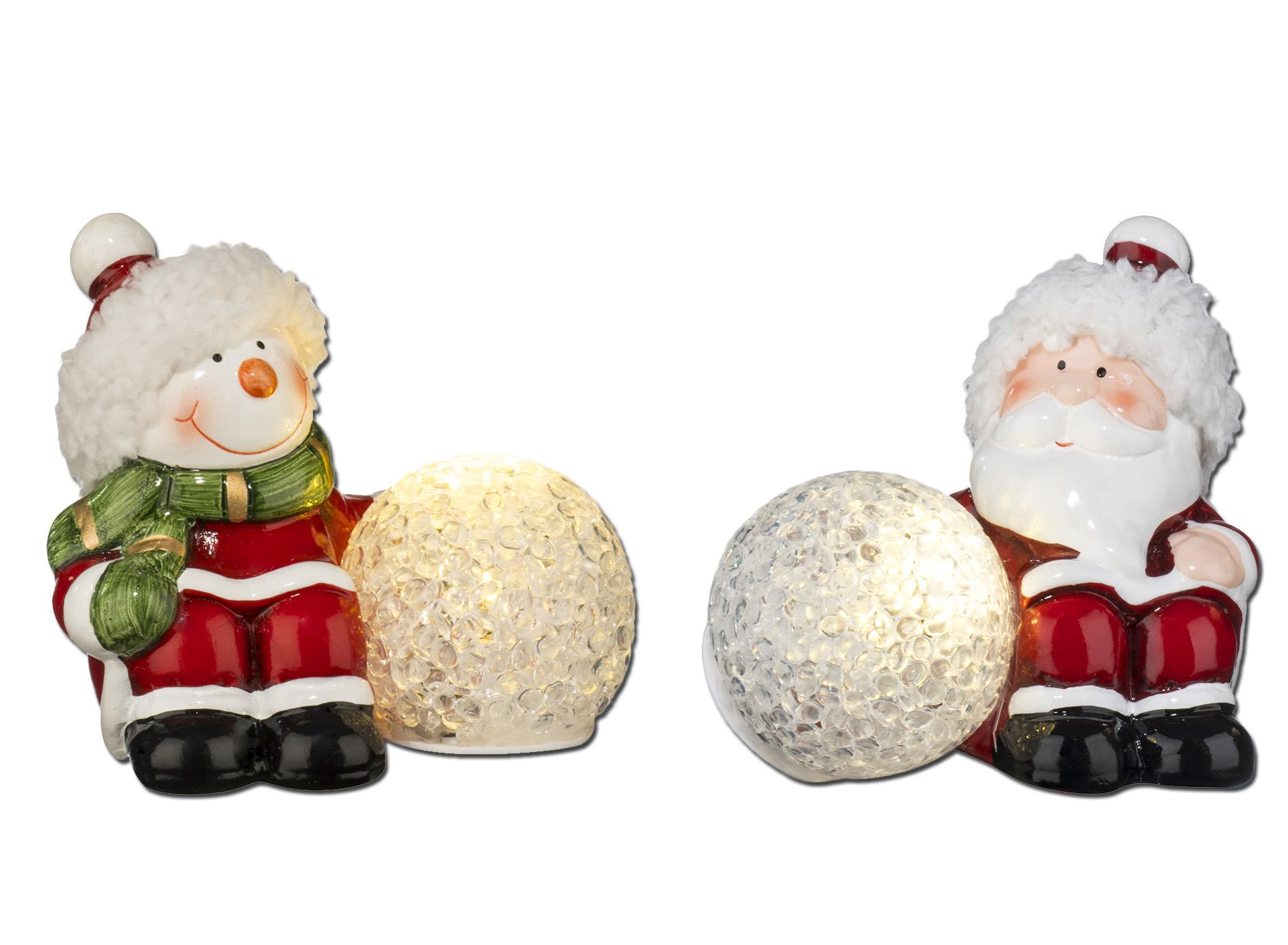 2 weihnachts figuren mit led ball weihnachten schenken shop der lebenshilfe. Black Bedroom Furniture Sets. Home Design Ideas