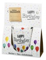 Becher Auszeit Happy Birthday